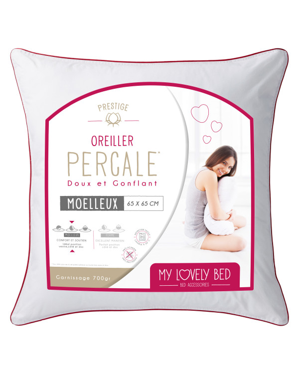 Oreiller gonflant percale