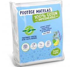 Protège matelas 100 % coton imperméable