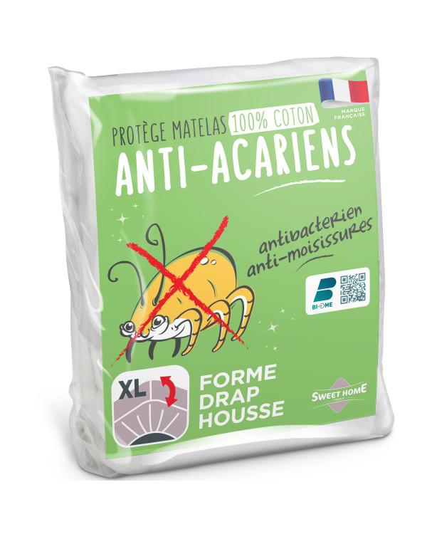 Protège matelas 100% coton et anti-acariens