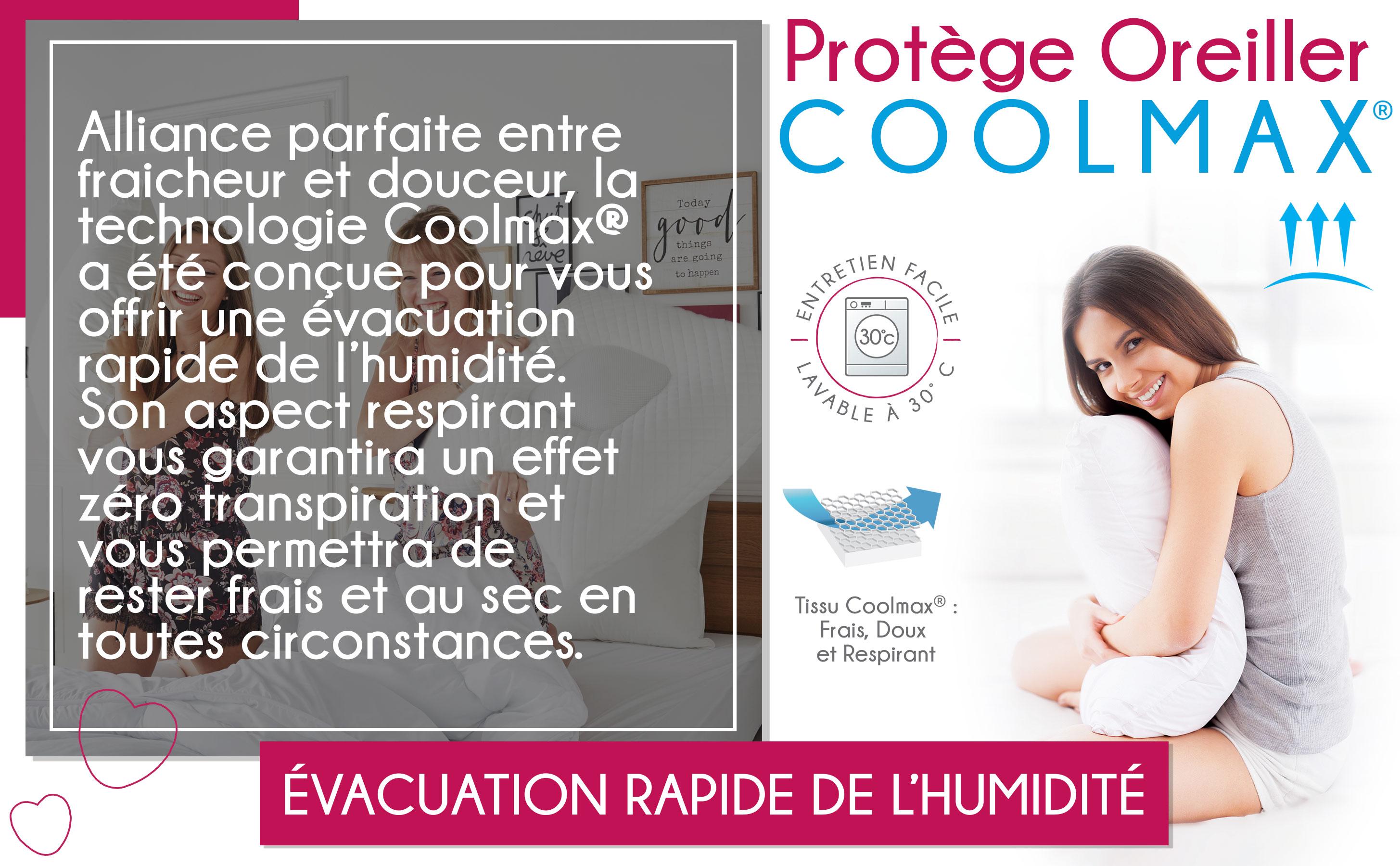 protège oreiller coolmax